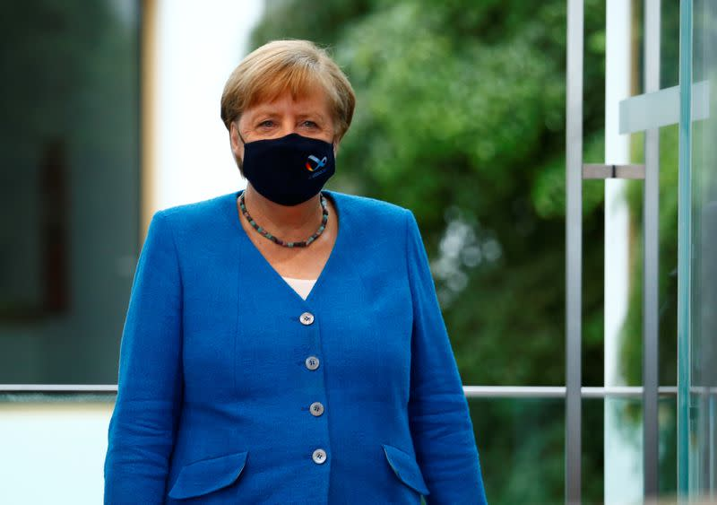 German Chancellor Angela Merkel holds annual summer news conference in Berlin