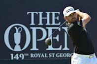 South Africa's Louis Oosthuizen is the leader of the 149th British Open at the halfway stage on 10 under par