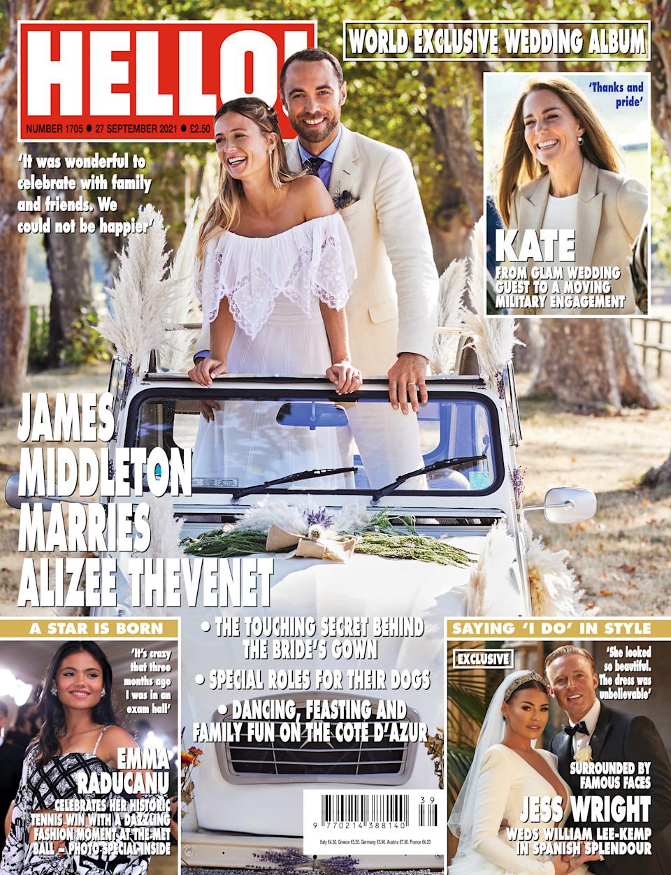 More details about the wedding are in this week's HELLO! out today. (Supplied HELLO!)