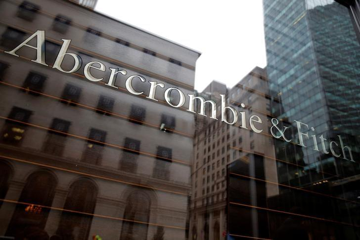 6cd925df87c Signage is seen at the Abercrombie   Fitch store on Fifth Avenue in  Manhattan