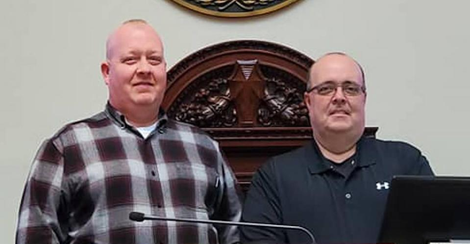 """Pulaski County Constables Michael """"Wally"""" Wallace, left, and Gary Baldock, right, were indicted in federal court in 2020."""