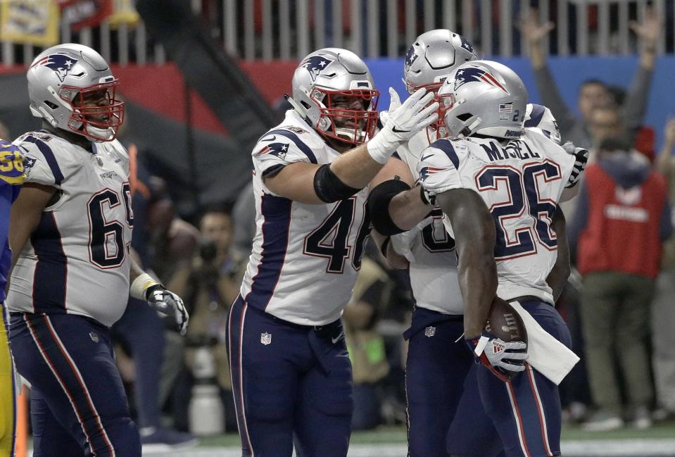 With a little more passing game chops in his arsenal, Sony Michel could be one of the most popular picks in fantasy next season. (AP Photo/David J. Phillip)