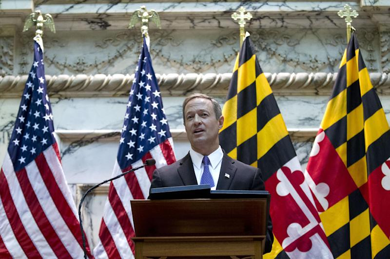 FILE - In this Jan. 30, 2013, file photo, Maryland Gov. Martin O'Malley delivers his sState of the State address in Annapolis Md. His latest legislative achievements put him on the vanguard of his party's liberal base. He was a top fundraiser for President Barack Obama. And he's ramping up his travel to help fellow Democrats around the country. Little-known outside his home state, O'Malley has methodically checked the necessary boxes toward earning the reputation of good Democratic soldier as he considers whether to run for president in 2016 _ a White House bid that would face long odds. (AP Photo/Jose Luis Magana, File)