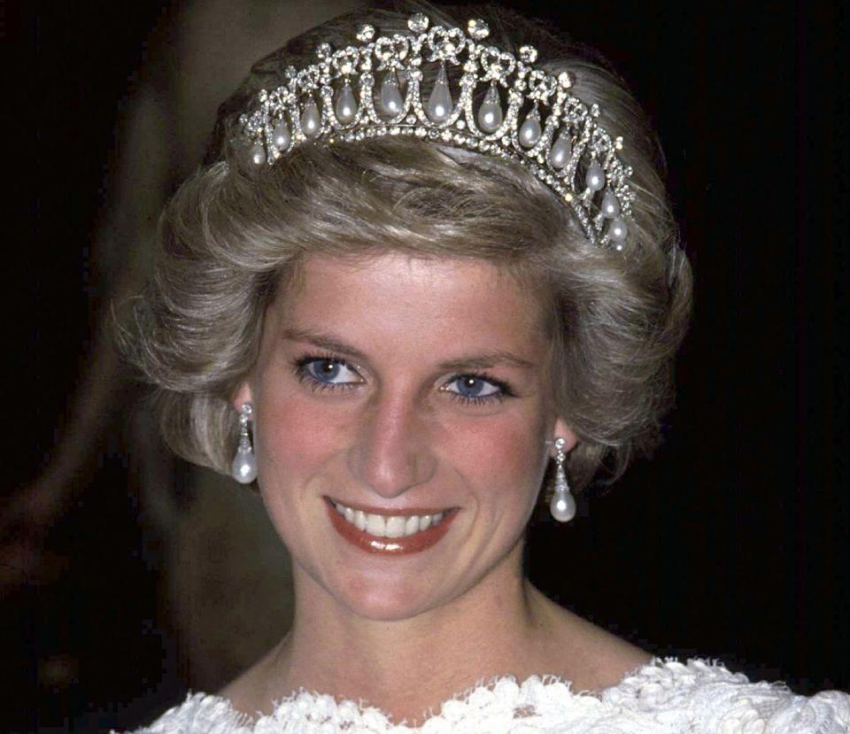 <p>This royal heirloom just may be the most magnificent piece of jewelry ever worn by the princess. The Lover's Knot tiara was designed for Queen Mary in 1913, and she presented it to Diana prior to the royal wedding day. More recently, it has been worn by the Duchess of Cambridge several times throughout her royal career and now resides in Windsor vaults. </p>