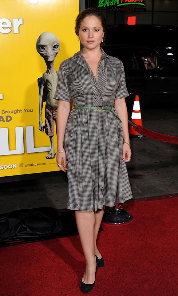 """<a href=""""http://movies.yahoo.com/movie/contributor/1809234908"""">Margarita Levieva</a> attends the Los Angeles premiere of <a href=""""http://movies.yahoo.com/movie/1810097993/info"""">Paul</a> on March 14, 2011."""