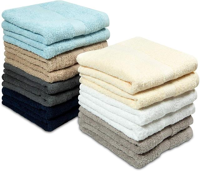 Cotton Craft Multi Color Hand Towels