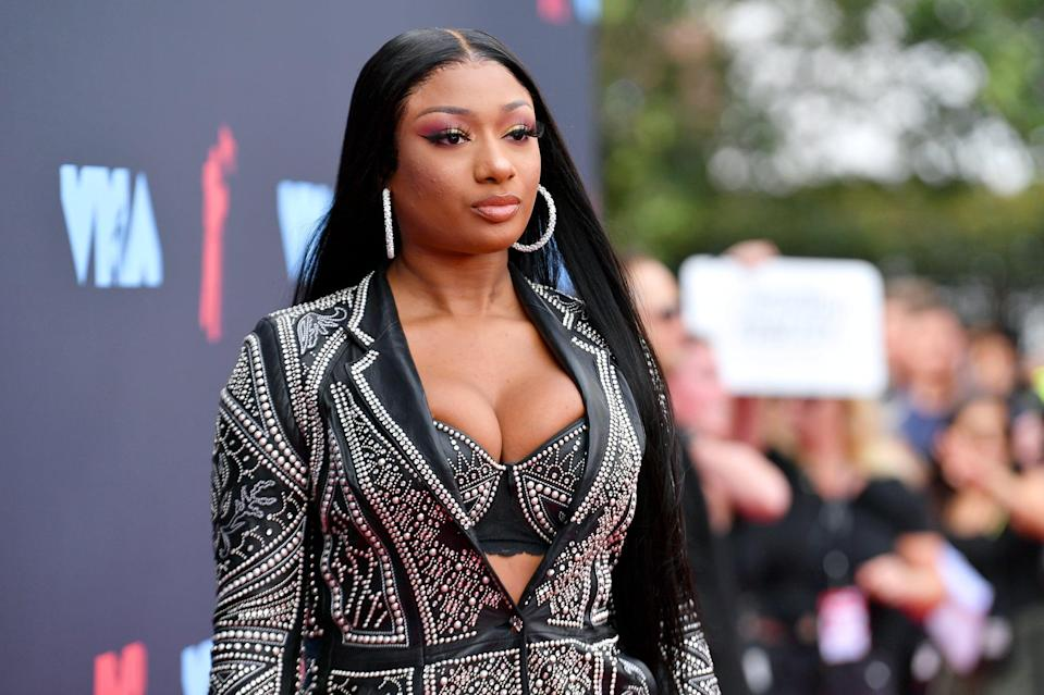 NEWARK, NEW JERSEY - AUGUST 26: Megan Thee Stallion attends the 2019 MTV Video Music Awards at Prudential Center on August 26, 2019 in Newark, New Jersey. (Photo by Dia Dipasupil/Getty Images for MTV)