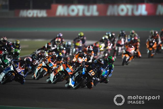 """Luca Marini, Sky Racing Team VR46, leads <span class=""""copyright"""">Gold and Goose / Motorsport Images</span>"""