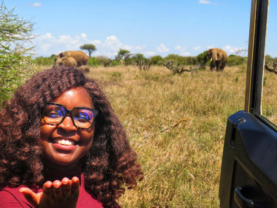 Idah Murithi meets some of the elephants she is determined to protect (Idah Murithi)