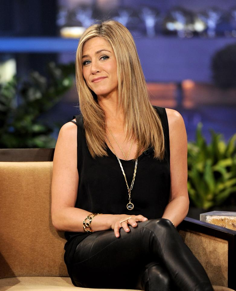 """<div class=""""caption-credit""""> Photo by: (Photo by Kevin Winter/NBCUniversal/Getty Images)</div><div class=""""caption-title""""></div>""""People think that I do a lot of injections, but I don't,"""" Jennifer Aniston told <i>InStyle</i> last year. """"I'm not saying that I haven't tried it ... but I see how it's a slippery slope."""""""