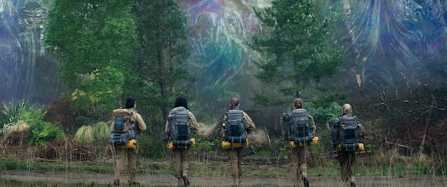 The all-female squad prepares to enter the Shimmer in <em>Annihilation</em>. (Photo: Paramount/Skydance)
