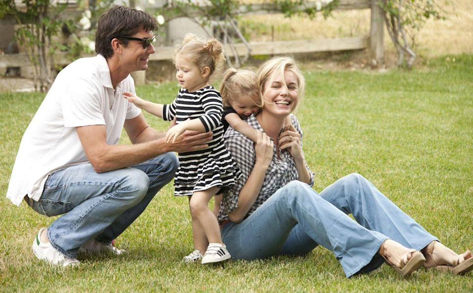 <p>Rebecca Romijn and her second husband, Jerry O'Connell, welcomed their twin daughters, Dolly Rebecca Rose and Charlie Tamara Tulip, just over a year after they tied the knot in 2007. The actress and her husband tend to keep their family out of the spotlight.</p>