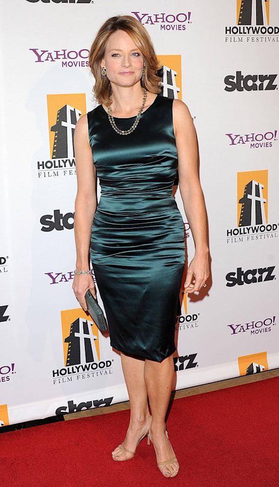 "<a href=""http://movies.yahoo.com/movie/contributor/1800012541"">Jodie Foster</a> attends the 14th Annual Hollywood Awards Gala at the Beverly Hilton Hotel on October 25, 2010."
