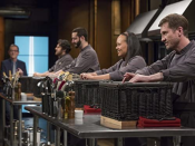 """<p>One of the biggest moments on the show is when <em>Chopped</em> host Ted Allen lifts the basket and reveals the mystery ingredients. So, naturally, the producers like to milk it. """"They really draw out the anticipation,"""" Kathy Fang told <a href=""""https://www.delish.com/restaurants/best-chefs/a45928/what-its-really-like-being-on-chopped-food-network/"""" rel=""""nofollow noopener"""" target=""""_blank"""" data-ylk=""""slk:Delish"""" class=""""link rapid-noclick-resp"""">Delish</a>. """"We were standing in front of the basket for about 15 minutes before we could open it.""""</p>"""