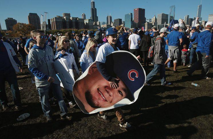 Kyle Schwarber, anyone? This guy right here knows what's up. (Getty Images)