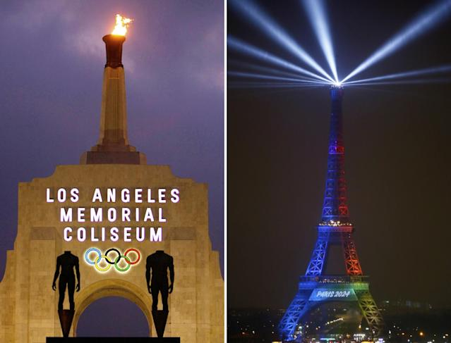 It's LA vs. Paris for the 2024 Olympics. (AP)