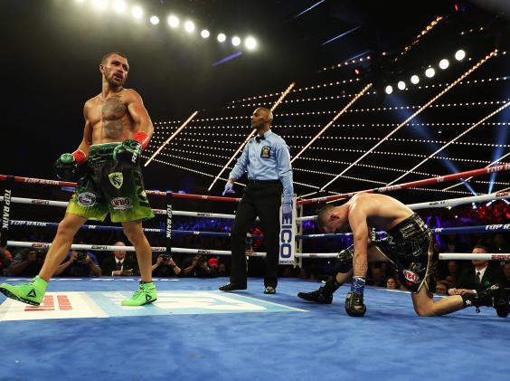 The Ukrainian made light work of the defending WBO champion (Getty)