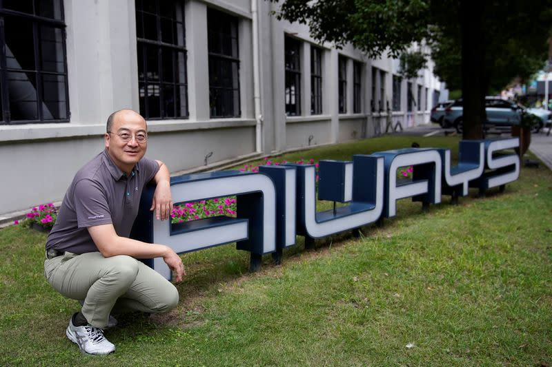 Samuel Fu, President and Co-founder of AIWAYS Automobiles Co Ltd. poses for picture at the company's office following the coronavirus disease (COVID-19) outbreak in Shanghai