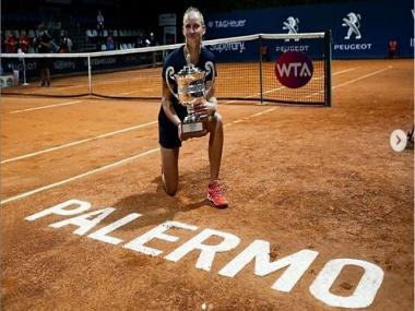 Palermo Ladies Open: France's Fiona Ferro upsets fourth-seed Anett Kontaveit to clinch title