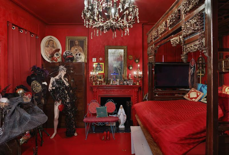 Event producer Susanne Bartsch is known for her extravagant parties and avant-garde fashion sense. Her home in the Chelsea has interiors to match her larger-than-life persona.