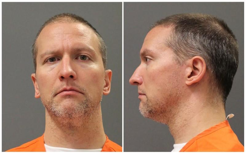 Former Minnesota police officer Derek Chauvin poses for a booking photograph