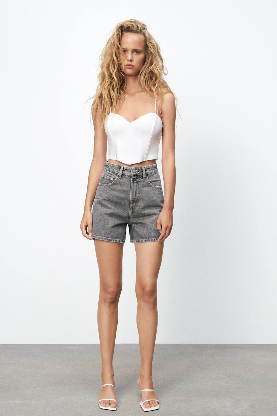 <p>This <span>Zara Corset Top</span> ($36) should be a staple. We love the cropped silhouette because it's so easy to style.</p>