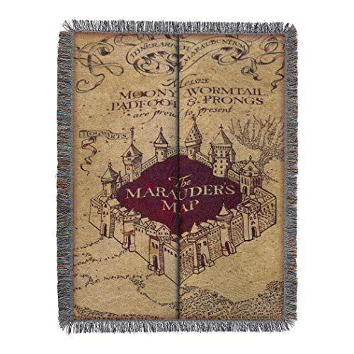 """<p><strong>Harry Potter</strong></p><p>amazon.com</p><p><strong>$28.40</strong></p><p><a href=""""https://www.amazon.com/dp/B00BT17YVC?tag=syn-yahoo-20&ascsubtag=%5Bartid%7C10055.g.23595566%5Bsrc%7Cyahoo-us"""" rel=""""nofollow noopener"""" target=""""_blank"""" data-ylk=""""slk:Shop Now"""" class=""""link rapid-noclick-resp"""">Shop Now</a></p><p>This vintage-looking throw may be Amazon's Choice for <em>Harry Potter</em> blankets, but plenty of reviewers opted to use theirs as wall tapestries or area rugs instead. It comes in seven different Harry Potter versions (including a <a href=""""https://www.amazon.com/dp/B07G7TMMFL/?tag=syn-yahoo-20&ascsubtag=%5Bartid%7C10055.g.23595566%5Bsrc%7Cyahoo-us"""" rel=""""nofollow noopener"""" target=""""_blank"""" data-ylk=""""slk:pretty watercolor design"""" class=""""link rapid-noclick-resp"""">pretty watercolor design</a>), but the Marauder's Map is our favorite. </p>"""