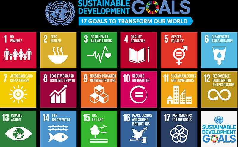 A list of the 17 Sustainable Development Goals (SDGs) as listed by the United Nations (UN). — Picture via un.org