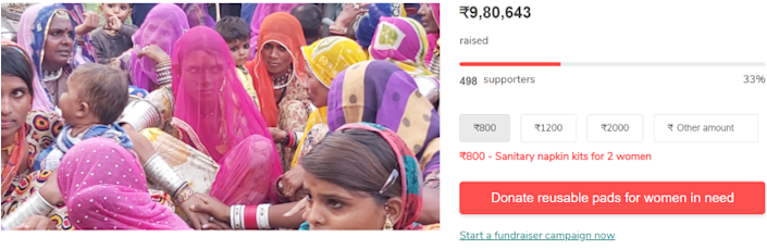 Give India's fundraiser drive