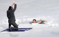 The new world record in under ice swimming near Teplice