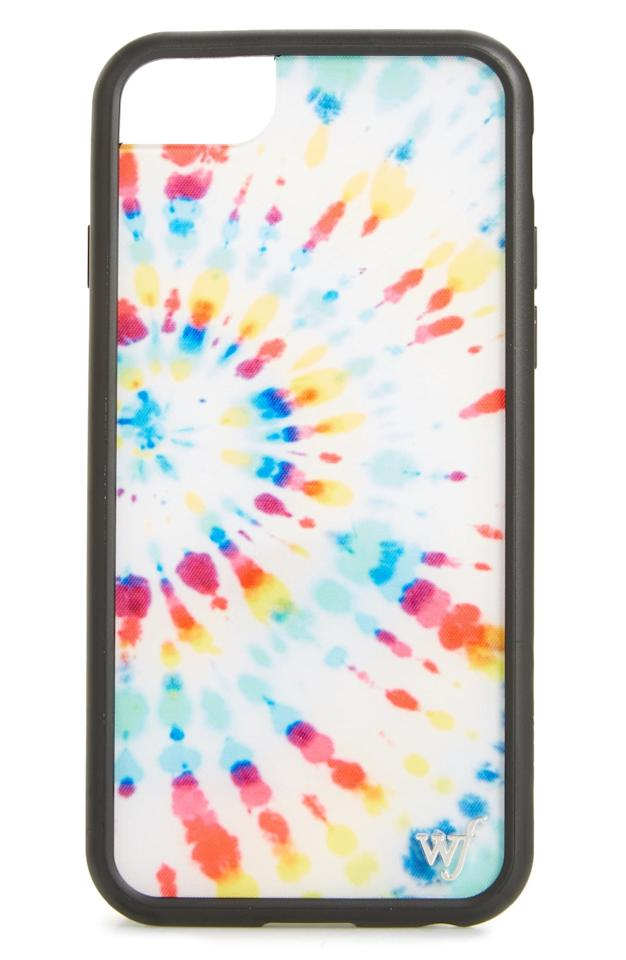 "<p>Tie dye is everywhere right now, and with this <a href=""https://www.popsugar.com/buy/Wildflower-Tie-Dye-iPhone-678-Case-475686?p_name=Wildflower%20Tie%20Dye%20iPhone%206%2F7%2F8%20Case&retailer=shop.nordstrom.com&pid=475686&price=35&evar1=geek%3Aus&evar9=46455651&evar98=https%3A%2F%2Fwww.popsugartech.com%2Fphoto-gallery%2F46455651%2Fimage%2F46455655%2FWildflower-Tie-Dye-iPhone-678-Case&list1=tech%2Cshopping%2Ciphone%2Cphone%20cases&prop13=mobile&pdata=1"" rel=""nofollow"" data-shoppable-link=""1"" target=""_blank"" class=""ga-track"" data-ga-category=""Related"" data-ga-label=""https://shop.nordstrom.com/s/wildflower-tie-dye-iphone-6-7-8-case/5119210?origin=keywordsearch-personalizedsort&amp;breadcrumb=Home%2FAll%20Results&amp;color=white%20multi"" data-ga-action=""In-Line Links"">Wildflower Tie Dye iPhone 6/7/8 Case</a> ($35), it can be on your phone too!</p>"