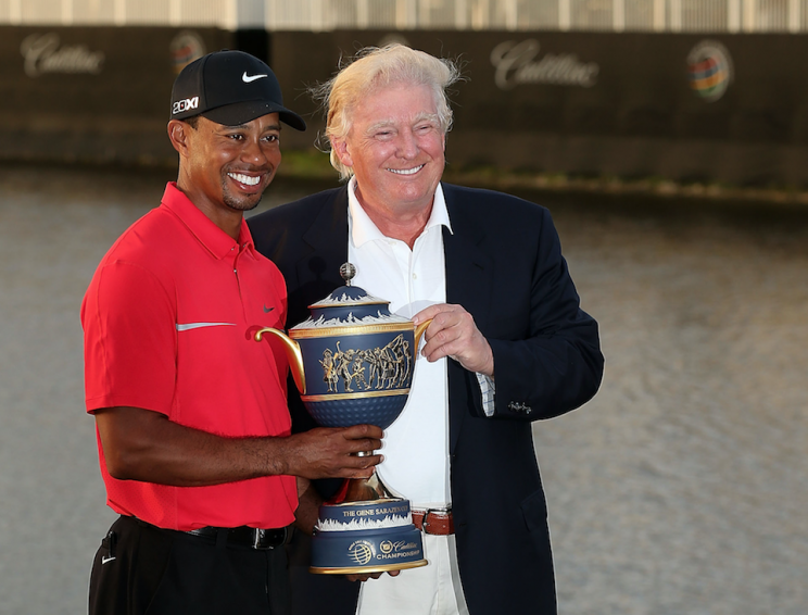 Tiger Woods and Donald Trump (Getty file photo)