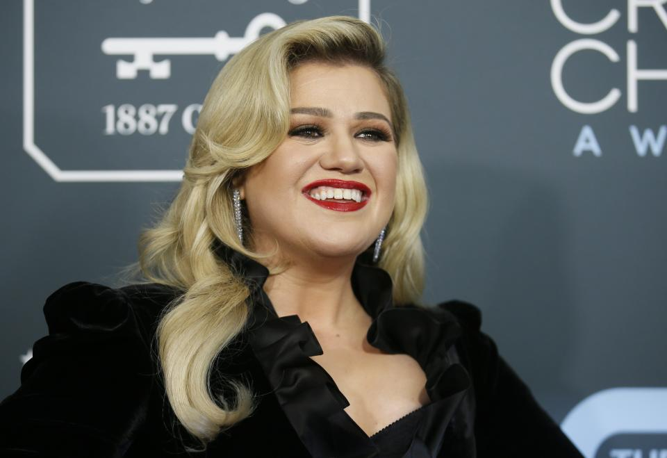 Kelly Clarkson, here at the 2020 Critics Choice Awards, says some celebrities didn't treat her well early on.