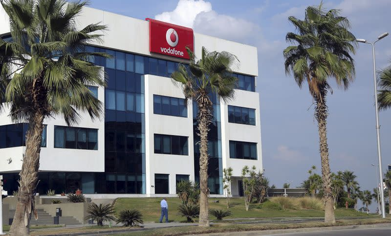 FILE PHOTO: The building of Vodafone Egypt Telecommunications Co is seen at the Smart Village in the outskirts of Cairo