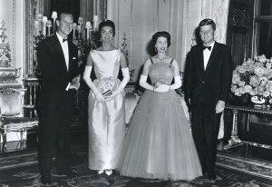 From left: Prince Philip, Jackie Kennedy, Queen Elizabeth and John F. Kennedy