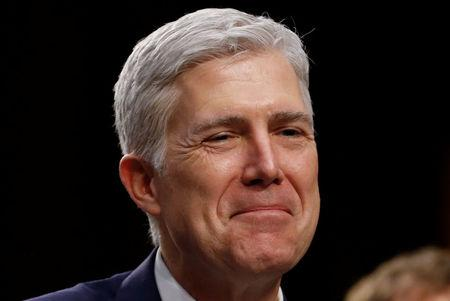 FILE PHOTO: U.S. Supreme Court nominee judge Neil Gorsuch sits for a third day of his Senate Judiciary Committee confirmation hearing on Capitol Hill in Washington, U.S. on March 22, 2017. REUTERS/Jonathan Ernst/File Photo
