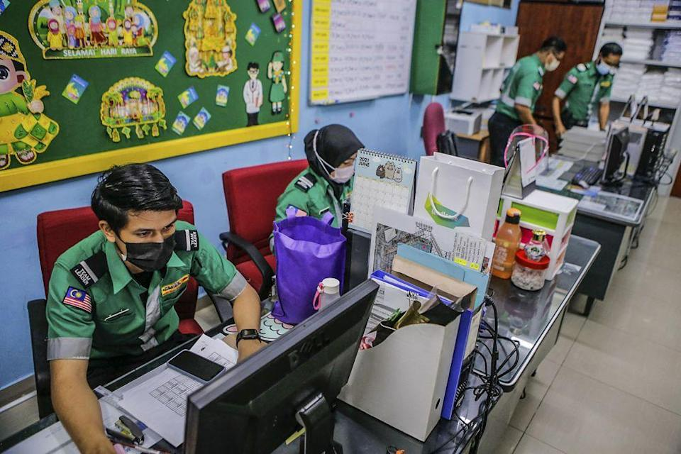 Paramedic EMS Services Sdn Bhd paramedics and staff on duty at their headquarters in Kuala Lumpur July 5, 2021.