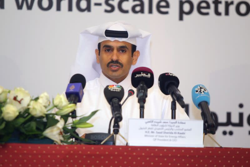 FILE PHOTO: Qatar Petroleum CEO and Minister of State for Energy al-Kaabi speaks during a news conference in Doha