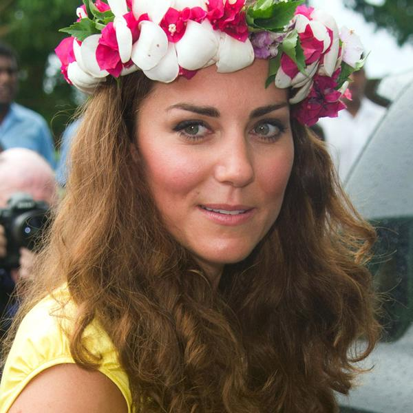 <b>Kate Middleton Top 10 Best Hairstyles</b>: The Duchess let her natural curls shine through during a trip to the Solomon Islands as part of the Diamond Jubilee tour ©Rex
