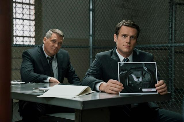 Holt McCallany and Jonathan Groff in <em>Mindhunter</em> (Photo: Patrick Harbron/Netflix)