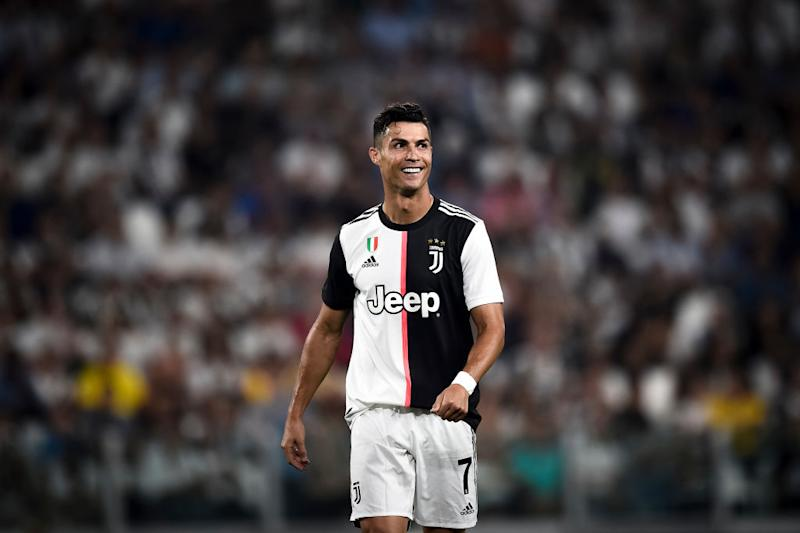 Cristiano Ronaldo of Juventus FC smiles during the Serie A football match between Juventus FC and SSC Napoli. Juventus FC won 4-3 over SSC Napoli. (Photo by Nicolà Campo/LightRocket via Getty Images)