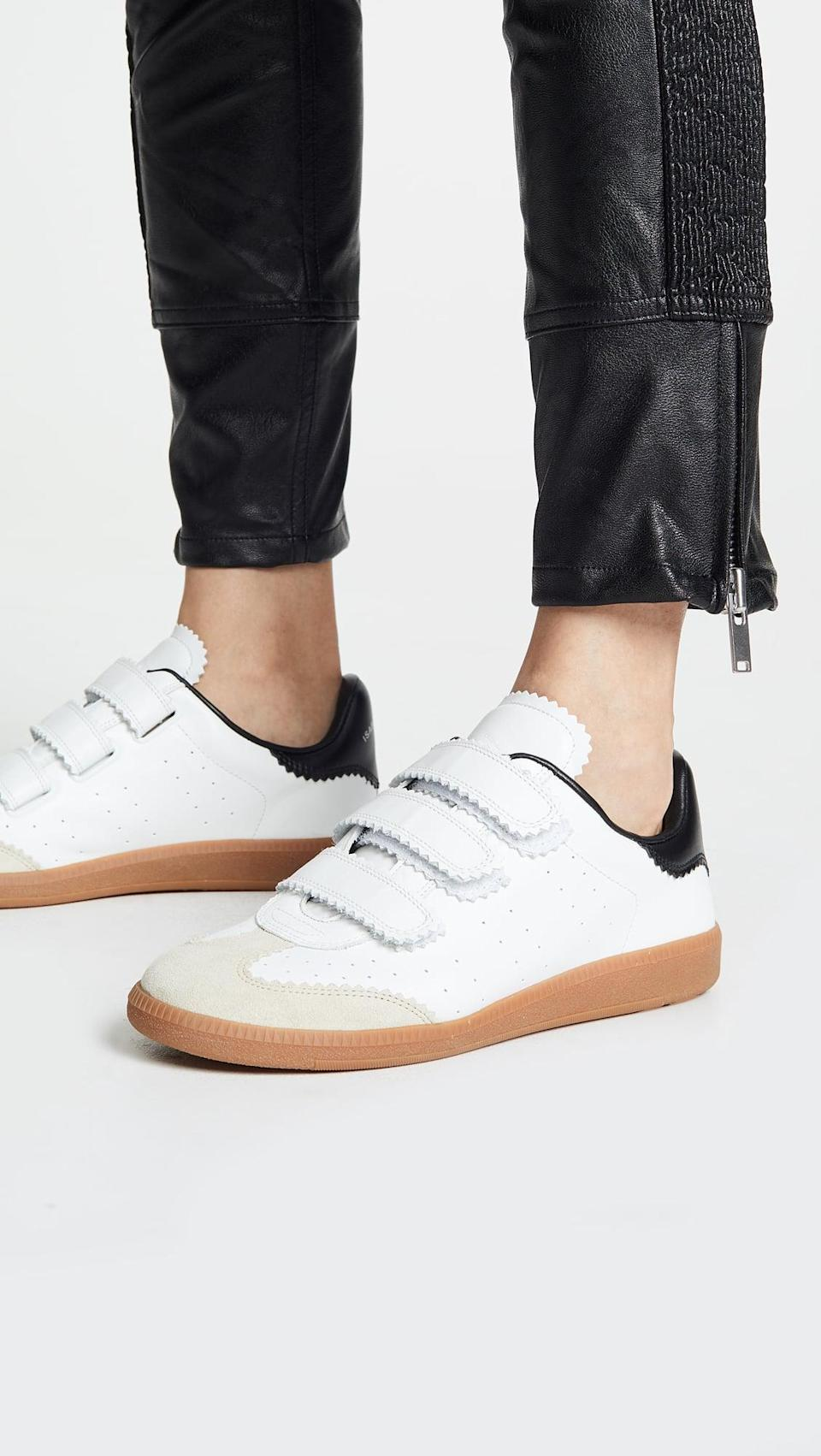 <p>What simple low-top has the highest resale value right now? The <span>Isabel Marant Beth Sneaker</span> ($385), which comes with easy velcro.</p>