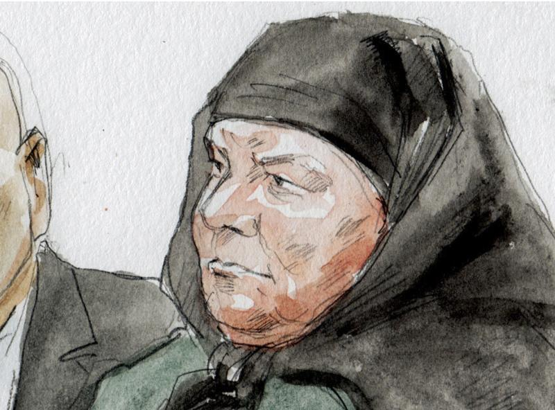 Colleen LaRose is shown in this courtroom sketch during her sentencing hearing in Philadelphia