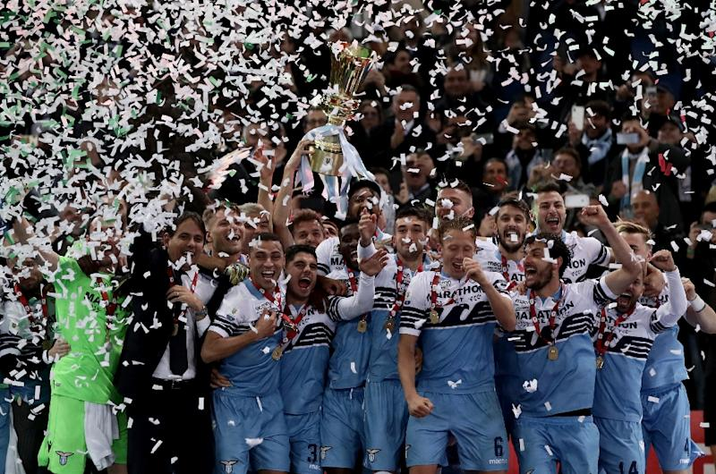 Lazio booked their ticket to the Europa League by lifting the Coppa Italia