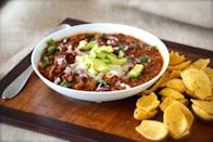 """<div class=""""caption-credit""""> Photo by: Alaska from Scratch</div><div class=""""caption-title"""">Black Bean Chili</div>This chili makes us long for a game on the television and a cold, wet day outside. """"Football and chili,"""" writes Alaska from Scratch. """"Ah, the glories of fall."""" <br> <br> <b>Recipe: <a rel=""""nofollow noopener"""" href=""""http://www.alaskafromscratch.com/2012/09/05/black-bean-chili/"""" target=""""_blank"""" data-ylk=""""slk:Black Bean Chili"""" class=""""link rapid-noclick-resp"""">Black Bean Chili</a></b> <br>"""