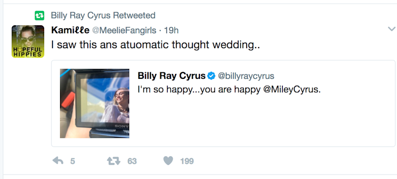Photo credit: Billy Ray Cyrus / Twitter