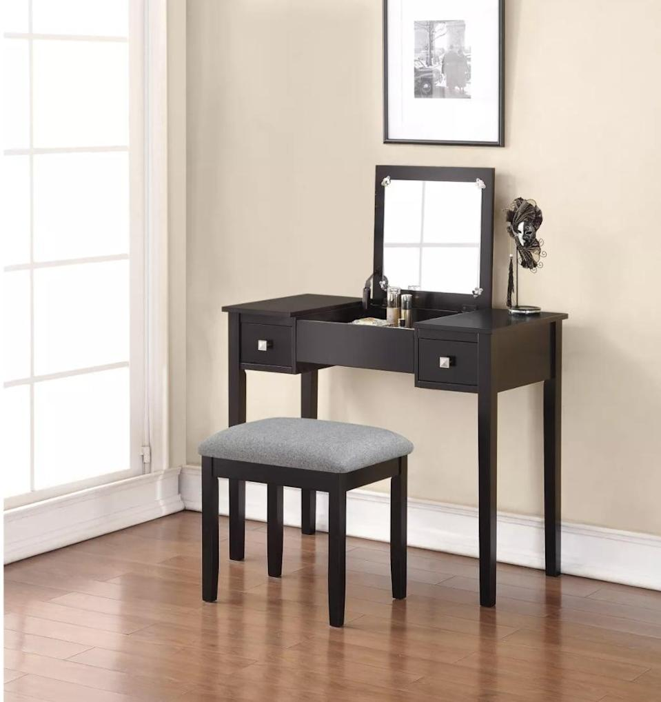 <p>This <span>Linon Kayden Vanity Set</span> ($170) will make a classic, minimal addition to your space.</p>
