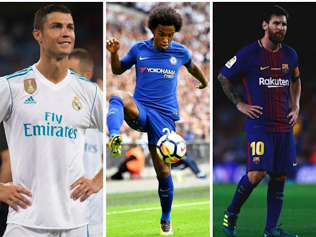Ronaldo, Willian and Messi – all wanted men
