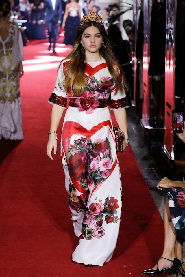 <p>The world's most beautiful child is now 16 and all grown up on the Milan catwalk.<br /><i>[Photo: Getty]</i> </p>