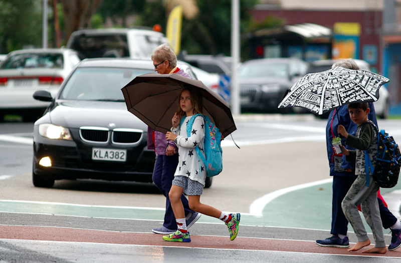 Auckland residents rushed to prepare for the storm. Photo: Getty.